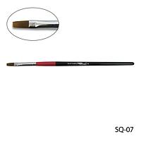 Кисть SQ-07 - №7 для гелевого моделирования (нейлон)