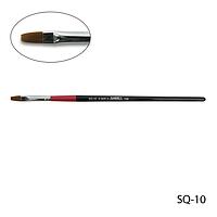 Кисть SQ-10 - №10 для гелевого моделирования (нейлон)