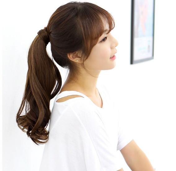 Накладной хвостик с термо волос с локонами мелировка на медные волосы (длина колеблется в пределах 50 см.)