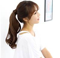 Накладной хвостик с термо волос с локонами мелировка на медные волосы (длина колеблется в пределах 50 см.), фото 1
