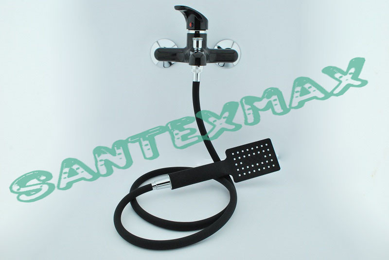 Смеситель для ванны из термопласта Plamix Afina 009-3 black