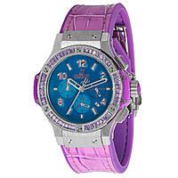 Наручные женские часы Hublot Big Bang Pop Art Purple Steel с хронографом