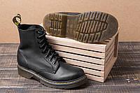 Женские зимние кожаные ботинки Dr. Martens