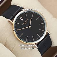 Часы Patek Philippe Calatrava 40mm Quartz black/gold/black. Replica: AAA, фото 1