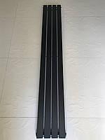 Радиатор дизайнерский вертикальный TERNI  4/1500 Черный матовый 1500*236, фото 1