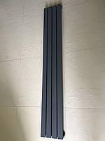 Радиатор дизайнерский вертикальный TERNI 4/1500 Антрацит матовый 1500*236, фото 1