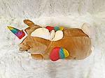 Плед мягкая игрушка 3 в 1  Единорог рыжий  (49), фото 3
