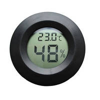 Термометр Гигрометр Digital 27000 Цифровой Круглый Черный Встраиваемый