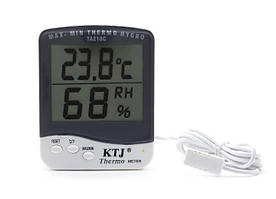 Цифровой Термометр Гигрометр Ktj Thermo Ta218C Измеритель Температуры И Влажности С Выносным Датчиком