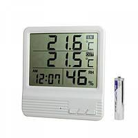 Цифровой Термогигрометр Digital Cx301A Измеритель Температуры И Влажности Cx301A Часы Будильник Термометр