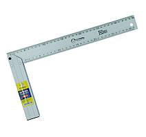 Кутник будівельний, вимірювальний, алюмінієвий литий 350мм Сталь 40526 (24235)