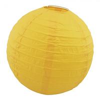 Бумажный подвесной фонарик Шар 25см желтый