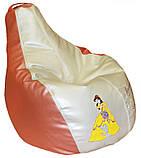 Безкаркасне крісло груша пуф для дітей м'яке, фото 4