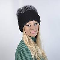 Женская шапка из натурального меха - Опушка, ПЕСЕЦ (код 29-263)