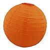 Бумажный подвесной фонарик Шар 25см оранжевый