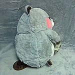Плед мягкая игрушка 3 в 1 Бобёр серый  (59), фото 3