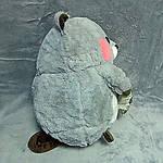 Плед мягкая игрушка 3 в 1 Бобёр серый  (76), фото 4