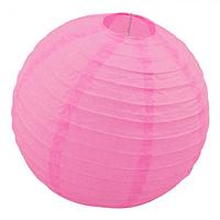 Бумажный подвесной фонарик Шар 25см розовый