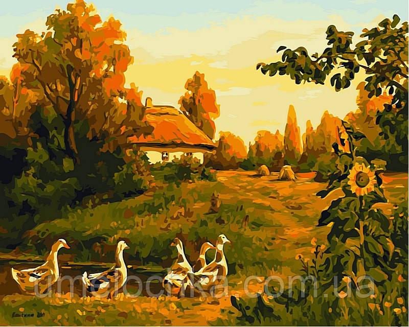 Набор для рисования Babylon Вечерняя деревня  Худ. Колисной Геннадий VP495