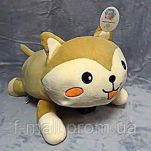 Плед мягкая игрушка 3 в 1 Котик бежевый  (62)