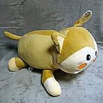 Плед мягкая игрушка 3 в 1 Котик бежевый  (62), фото 3