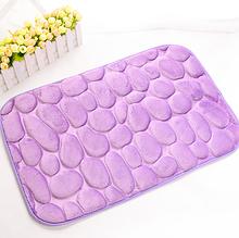 Коврик для ванной «Галька» фиолетовый 40×60 см