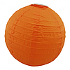 Паперовий підвісний ліхтарик Куля 35см помаранчевий