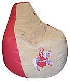Безкаркасне крісло-пуф груша м'яка для дітей, фото 5