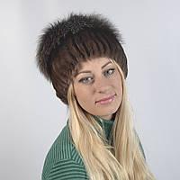 Женская шапка из натурального меха - Опушка, ПЕСЕЦ (код 29-265)