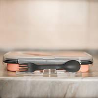 Силиконовый контейнер для еды - персиковый