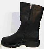 Сапоги кожаные женские зимние большого размера от производителя модель МИ3033-7, фото 2