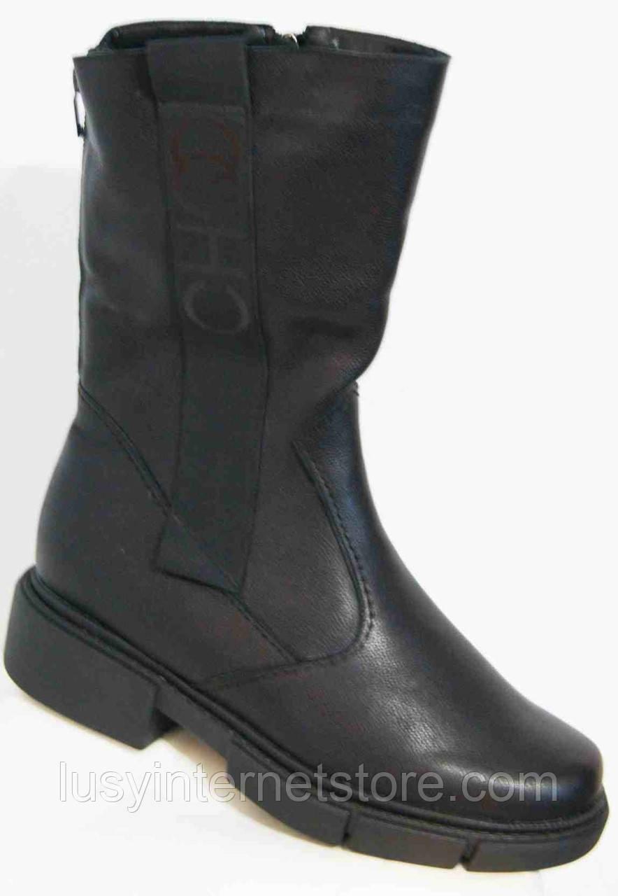Сапоги кожаные женские зимние большого размера от производителя модель МИ3033-7