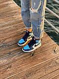 Жіночі кросівки в стилі Nike Air Jordan 1 Retro (blue/white), Найк Аїр Джордан 1 ретро (Репліка ААА), фото 5
