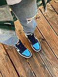 Жіночі кросівки в стилі Nike Air Jordan 1 Retro (blue/white), Найк Аїр Джордан 1 ретро (Репліка ААА), фото 7