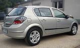 Молдинги на двері для Opel Astra H 5dr хетчбек, 4dr сєдан 2004-2014, фото 2