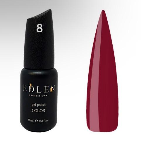Гель-лак Edlen №8 (марсала, эмаль), 9 мл