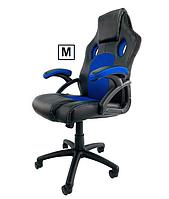 Комп'ютерне спортивне крісло CARRERA BLUE M , офісне крісло нове крісло компютерне для дому та офісу кресло
