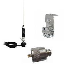 Антенна с креплением за трубу зеркал Lemm СВ27 МГц для грузовых авто в комплекте