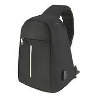 Городской рюкзак антивор Bobby Mini с защитой от карманников и USB-портом для зарядки Black (sa002-LVR)