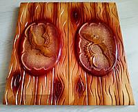 Сувенирные нарды ручной работы, резьба по дереву