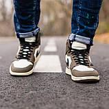 Мужские кроссовки в стиле Nike Air Jordan 1 Retro x Travis Scott (brown/white), Найк Джордан (Реплика ААА), фото 4