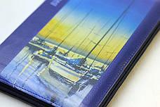 Библия среднего формата (синяя, речной пейзаж, кожзам, серебро, индексы, молния, 15х21), фото 3