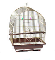 Клетка для птиц Fox, золотая, 28х22х39 см