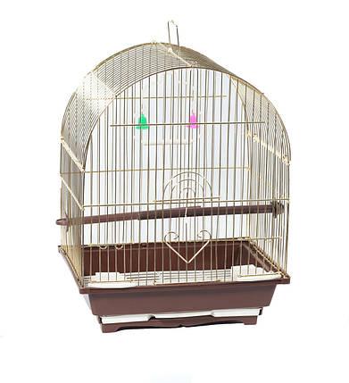 Клетка для птиц Fox, золотая, 28х22х39 см, фото 2
