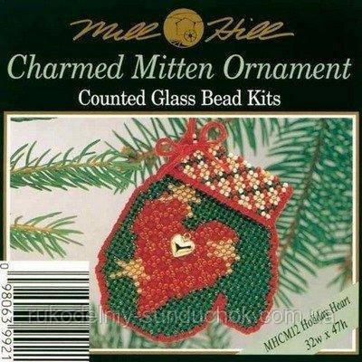 """Набор для вышивания """"Holiday Heart//Перчатка"""" Mill Hill MHCM12"""