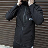 Куртка мужская The North Face на флисе осенняя весенняя демисезонная черная | Ветровка мужская | ЛЮКС качества