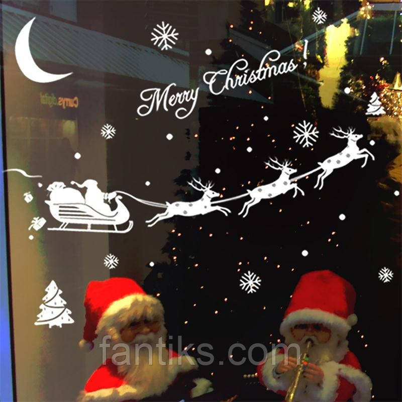 "Набор наклеек ""Merry Christmas-санта"""