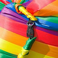 Надувной матрас Ламзак AIR sofa Rainbow Радуга, надувной диван-шезлонг, ламзак-лежак, фото 6
