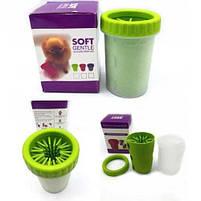 Стакан для мытья лап любимым питомцам Soft pet foot cleaner, лапомойка для собак, фото 4