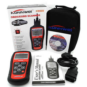 Автомобильный диагностический сканер OBDII/EOBD scanner KW 808